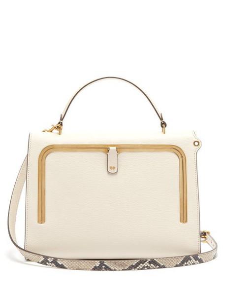 Anya Hindmarch - Postbox Medium Leather Cross Body Bag - Womens - White