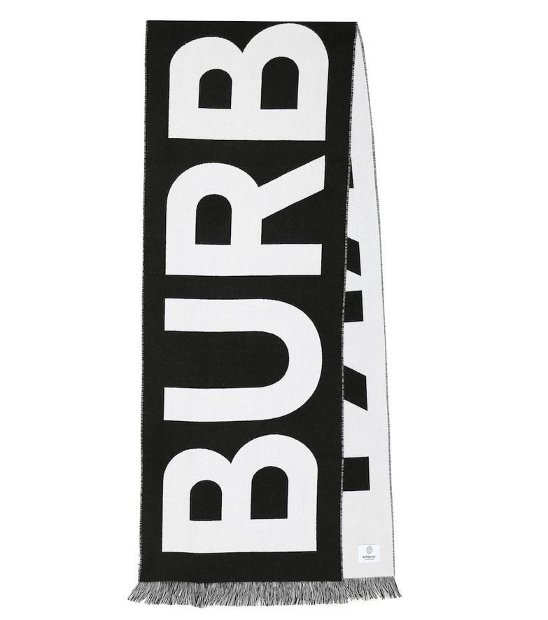 Burberry Logo wool scarf in black