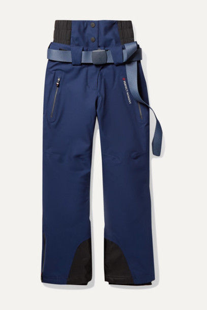 Perfect Moment Kids - Ages 6 - 12 Chamonix Padded Ski Pants in navy