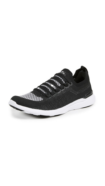 APL: Athletic Propulsion Labs TechLoom Breeze Sneakers in black / metallic / silver / white