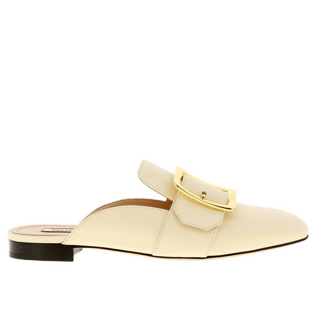 Bally Ballet Flats Shoes Women Bally in cream / yellow