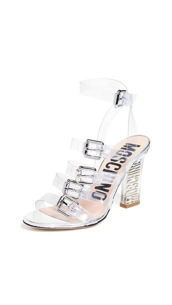 Moschino Lucite Heeled Sandals
