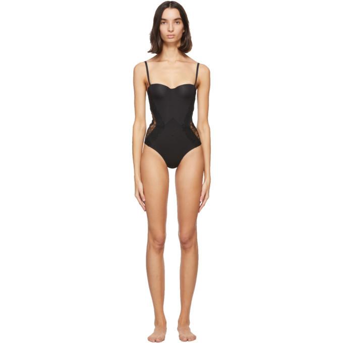 La Perla Black Shape-Allure Bodysuit in nero
