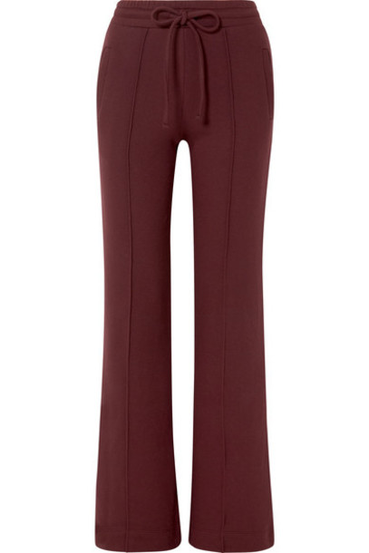 TWENTY Montréal - Sunnyside Cotton-blend Terry Track Pants - Burgundy