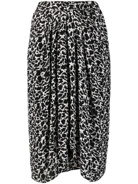 Isabel Marant Étoile animal-print gathered skirt in black