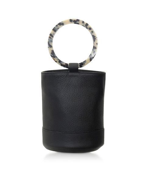 Simon Miller S804 Leather Bonsai 20 Cm Bag in black