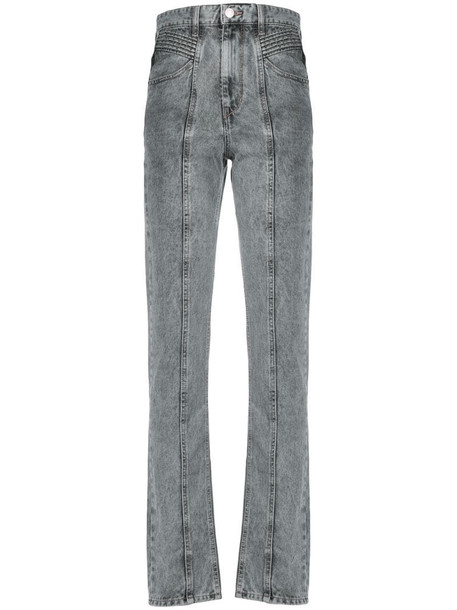 Isabel Marant Étoile raised seam tapered jeans in grey