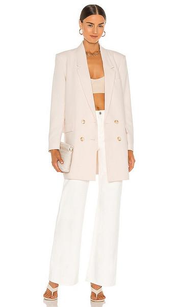 BB Dakota Dressed To Thrill Blazer in Peach,Cream in ivory