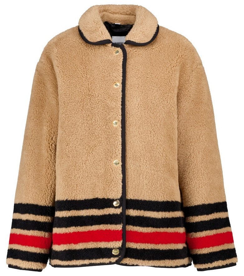 Burberry Wool-blend fleece jacket in beige