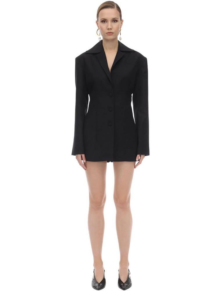 MATÉRIEL Wool Blend Corset Blazer in black