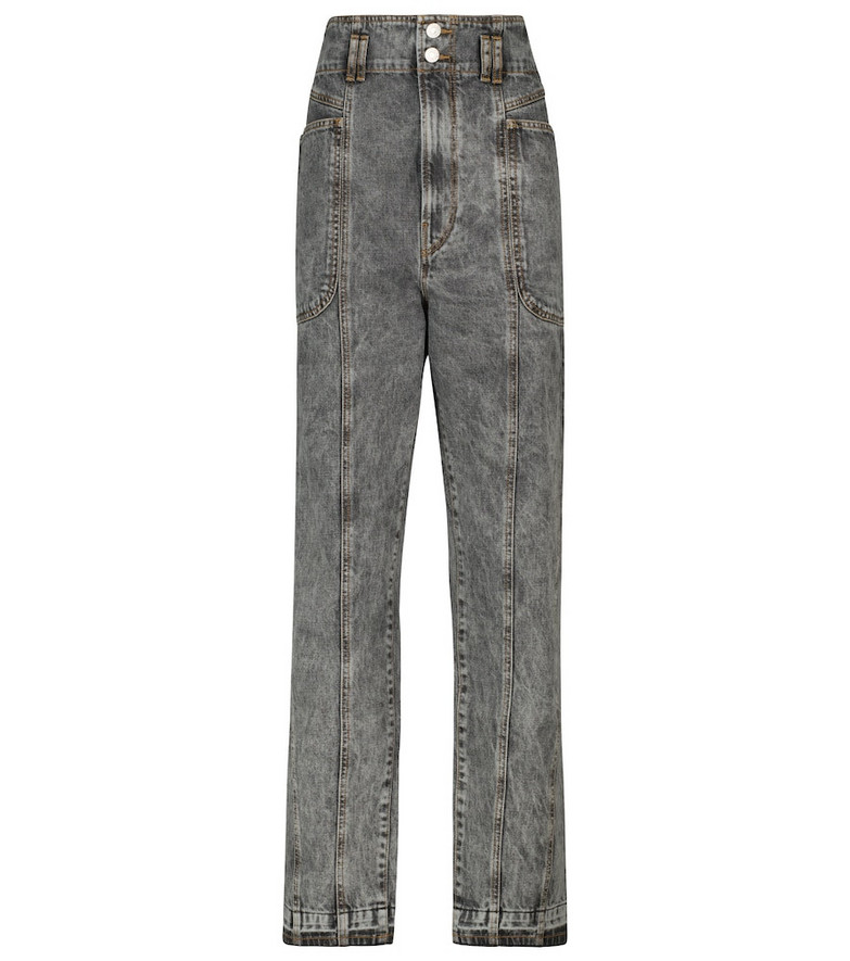 Isabel Marant, Étoile Tess high-rise straight jeans in grey