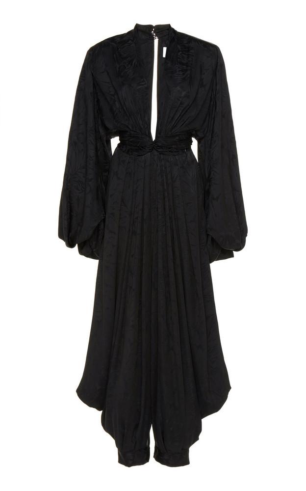 Nervi Diana Satin Jumpsuit Size: 38 in black
