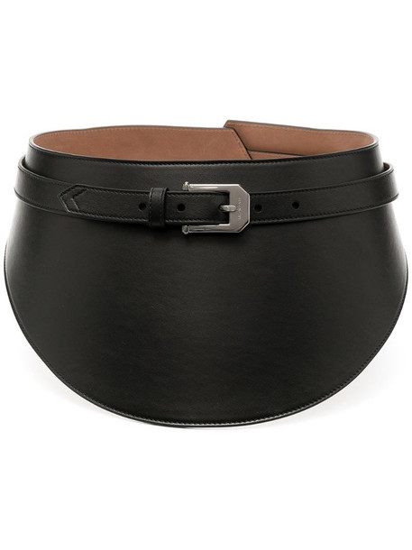 Givenchy chunky leather belt in black