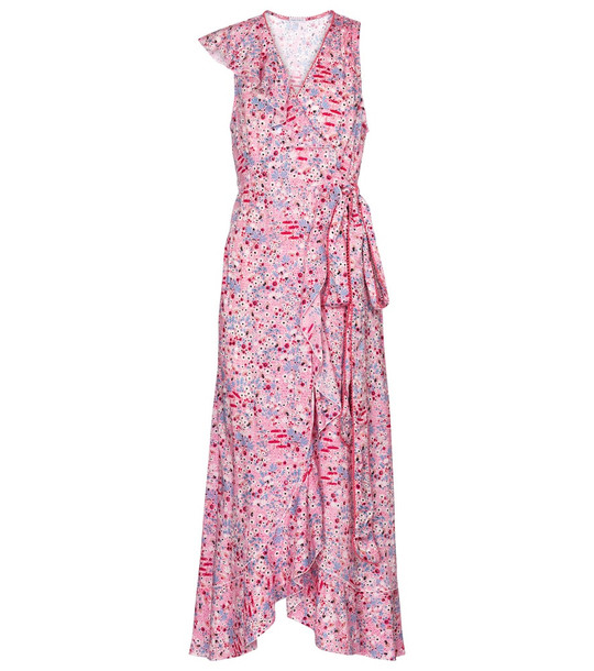 Poupette St Barth Gwen floral playsuit in pink