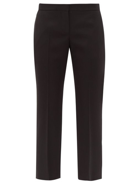 Alexander Mcqueen - Wool Twill Tailored Trousers - Womens - Black