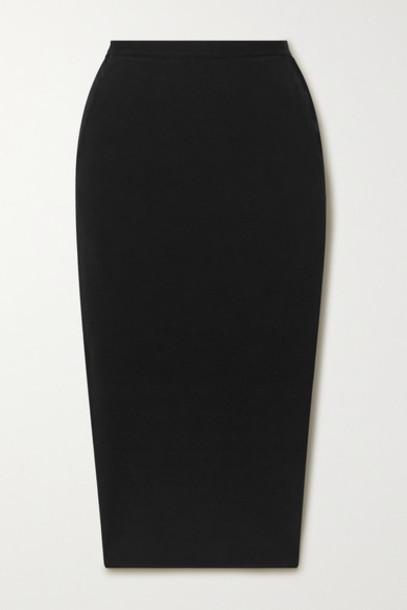 Rick Owens - Pillar Stretch Cotton-blend Cloqué Midi Skirt - Black