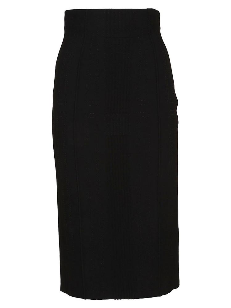 Alexander Mcqueen Pencil Skirt in black