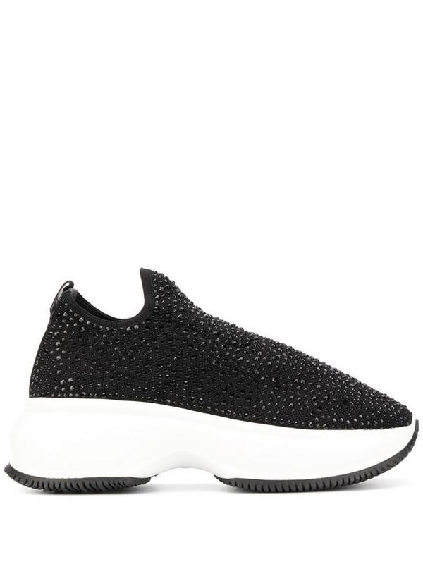 Hogan embellished slip-on sneakers in black