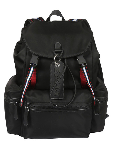 Bally Logo Tag Backpack in black