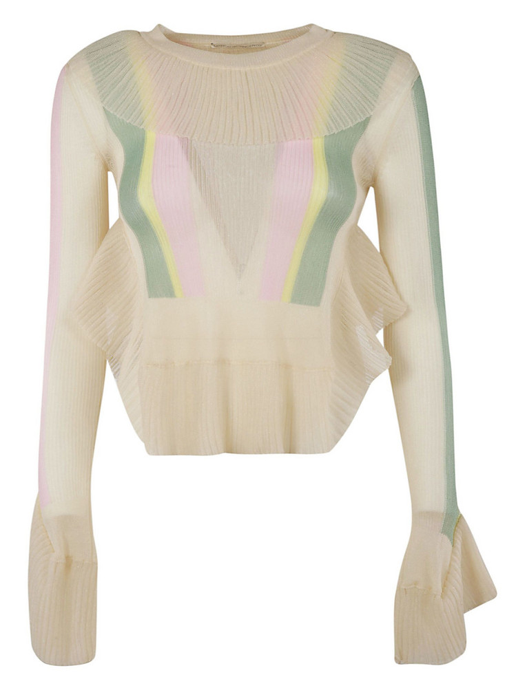 Marco De Vincenzo Pleated Detail Top in ivory / pink
