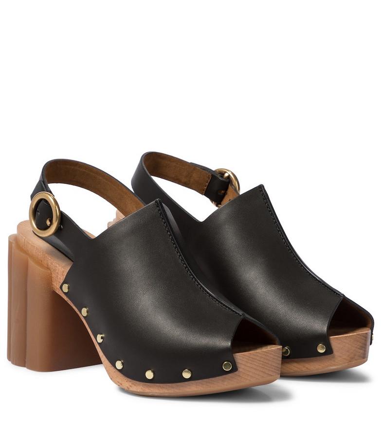 Stella McCartney Daisy faux leather platform sandals in black