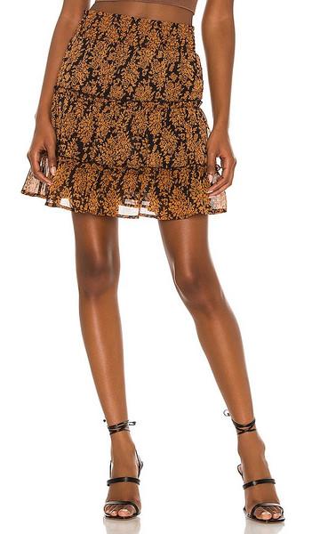 MINKPINK Bedouin Beauty Mini Skirt in Tan in multi
