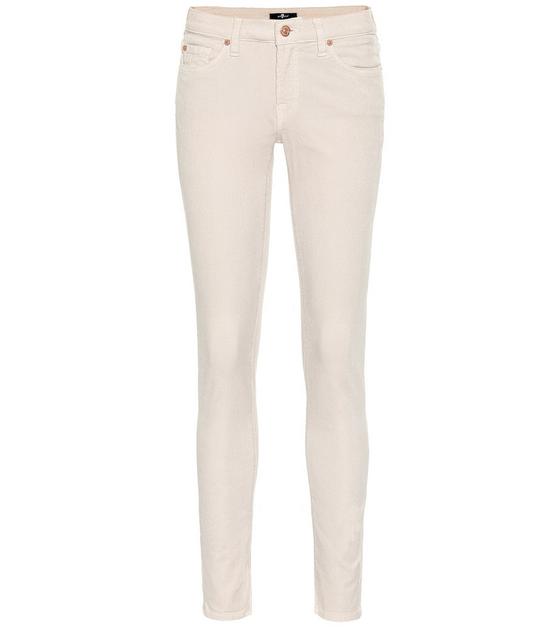 7 For All Mankind Pyper cropped mid-rise skinny jeans in white
