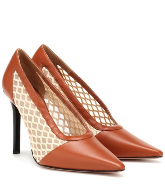 Altuzarra Peppino leather pumps in brown