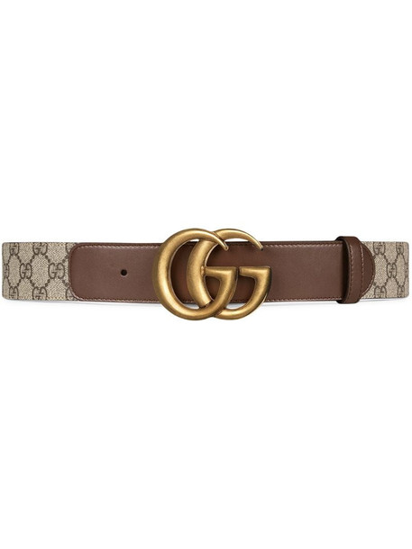 Gucci double G buckle GG belt in brown