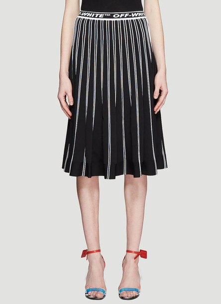 Off-White Pleated Knit Skirt size IT - 42 in black