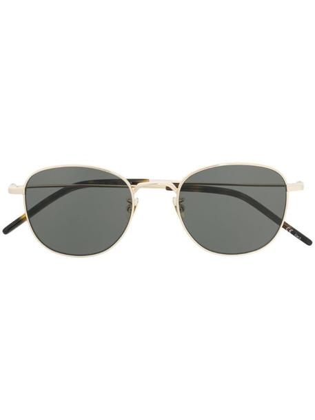 Saint Laurent Eyewear round frame sunglasses in black