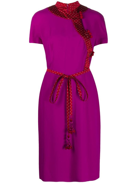 Christian Dior 2000's pre-owned tie waist dress in pink