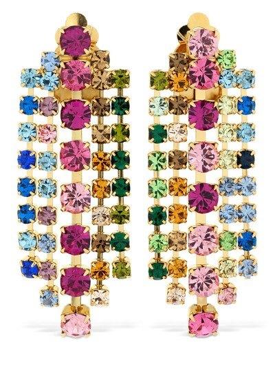 CA&LOU Teodora Multicolor Crystal Earrings Multicolor