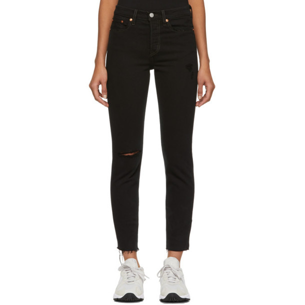 Levi's Black Wedgie Fit Icon Jeans