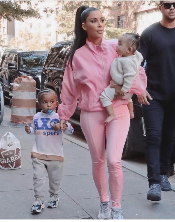 jacket kim kardashian pink