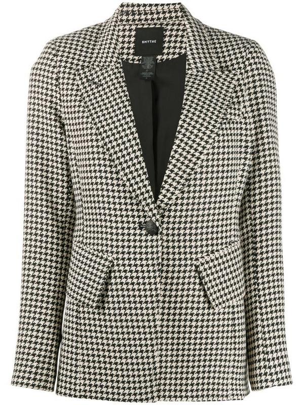 Smythe Houndstooth tailored blazer in neutrals