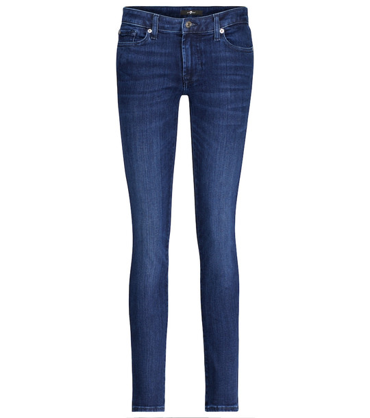 7 For All Mankind Pyper Slim Illusion mid-rise jeans in blue
