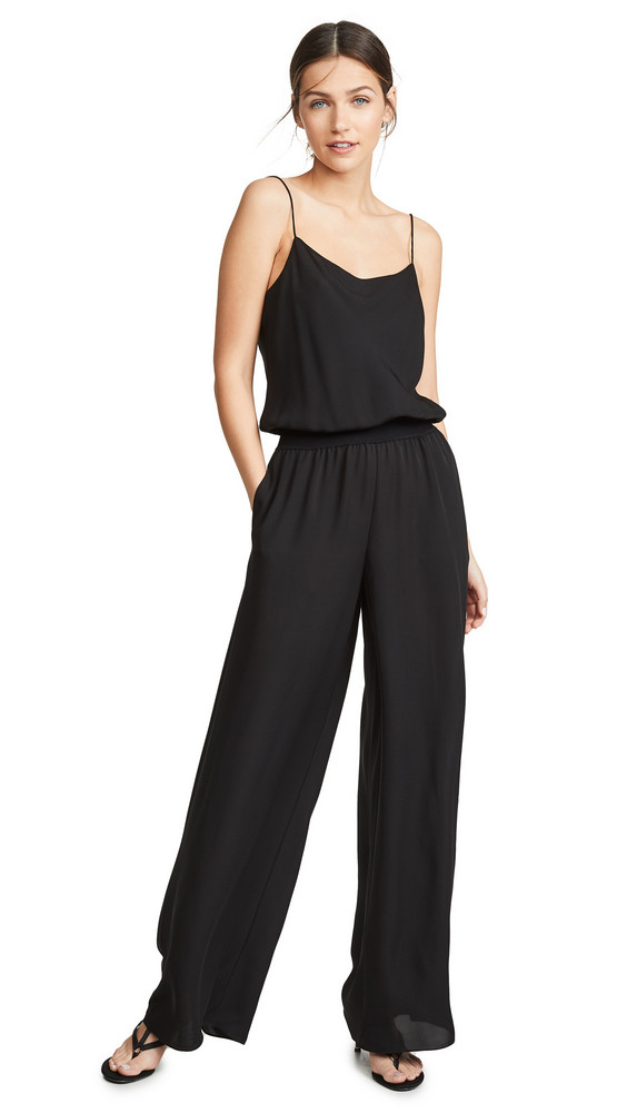 Theory Rib Jumpsuit in black