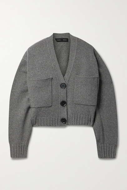 PROENZA SCHOULER - Cropped Cashmere Cardigan - Gray