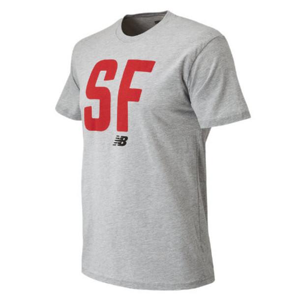 New Balance 63580 Men's SF City Tee - Grey (MT63580AG)