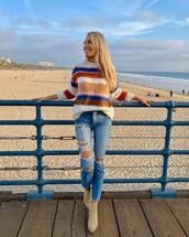 jeans,sweater,shoes