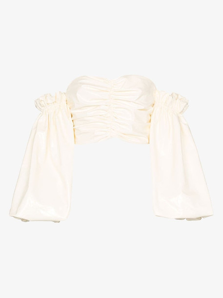 ROTATE phoebe off-the-shoulder top in white