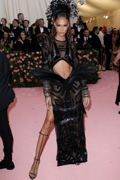 dress,gown,prom dress,see through,see through dress,sheer,joan smalls,celebrity,model,red carpet dress,met gala