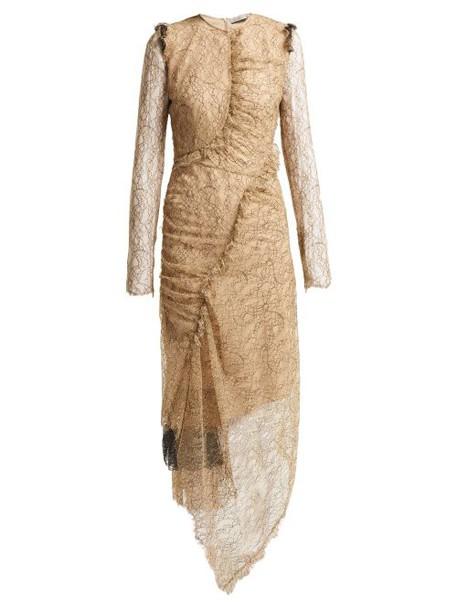 Preen By Thornton Bregazzi - Mazine Lace Dress - Womens - Beige Multi
