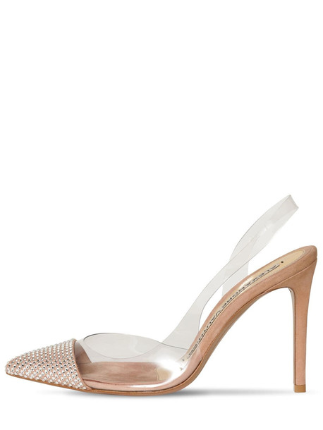 ALEXANDRE VAUTHIER 100mm Crystal & Plexi Sling Back Pumps