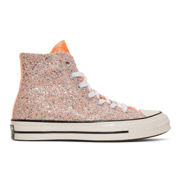 JW Anderson Pink Converse Edition Glitter Chuck 70 High Sneakers