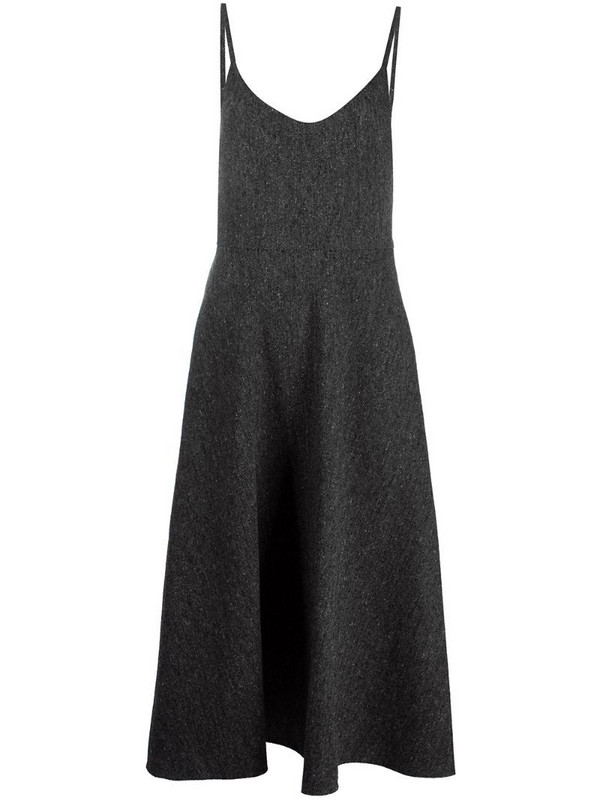Valentino strappy flared dress in grey