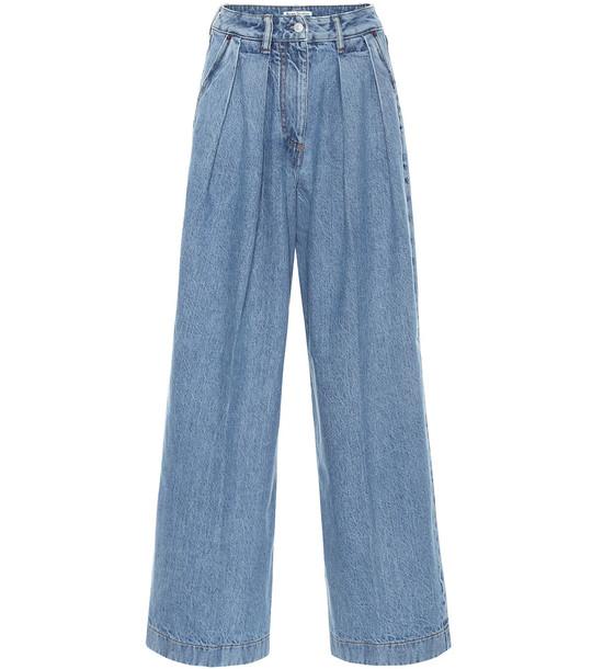 Acne Studios High-rise wide-leg jeans in blue