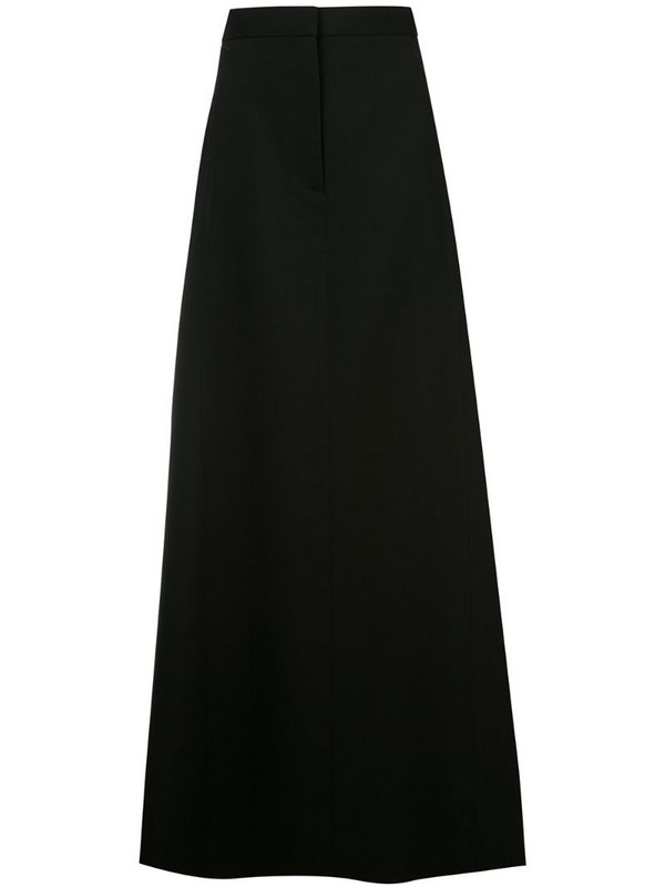 Vera Wang A-line maxi skirt in black