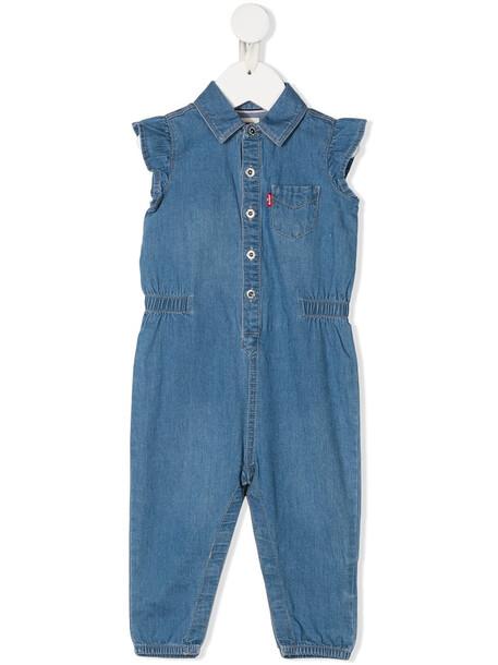 Levi's Kids denim buttoned romper - Blue